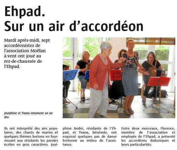 EHPAD Scaër Le Télégramme 24 mai 2018